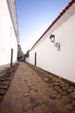 Alleyway. Narrow alleyway between buildings in Paraty, Brazil Stock Photography