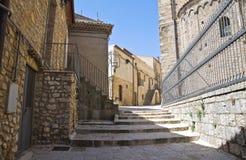 alleyway Acerenza La Basilicata L'Italia Immagine Stock Libera da Diritti