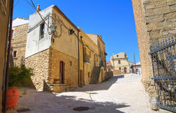 alleyway Acerenza La Basilicata L'Italia Immagini Stock