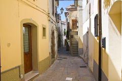 alleyway Acerenza La Basilicata L'Italia Fotografia Stock Libera da Diritti