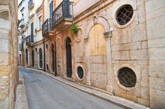 Alleyway. Andria. Puglia. italy. stock images