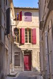 Alleyway, Arles. Alleyway on sunny day, Arles, France Royalty Free Stock Photo