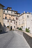 Alleyway. Assisi. Umbria. Royalty Free Stock Photos