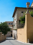 Alleyway. Assisi. Umbria. Royalty Free Stock Image
