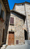 Alleyway. Assisi. Umbria. Stock Photo