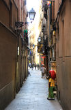 Barcelona Alleyway Stock Image