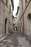 Alleyway. Bevagna. L'Umbria. Fotografia Stock Libera da Diritti