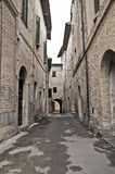 Alleyway. Bevagna. Umbria. Royalty Free Stock Photography