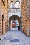 alleyway Bisceglie La Puglia L'Italia Fotografie Stock Libere da Diritti