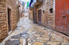 alleyway Bisceglie La Puglia L'Italia Immagine Stock Libera da Diritti