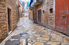 Alleyway. Bisceglie. Puglia. Italy. Royalty Free Stock Image