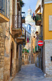 alleyway Bitetto La Puglia L'Italia Fotografia Stock Libera da Diritti