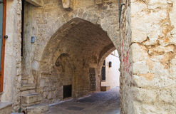Alleyway. Bitritto. Puglia. Italy. Royalty Free Stock Photography