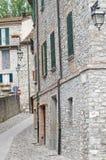 Alleyway. Bobbio. L'Emilia Romagna. L'Italia. Immagini Stock Libere da Diritti