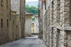 Alleyway. Bobbio. L'Emilia Romagna. L'Italia. Immagine Stock