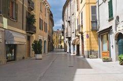 Alleyway. Bobbio. L'Emilia Romagna. L'Italia. Fotografia Stock