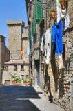 Alleyway. Bolsena. Il Lazio. L'Italia. Fotografie Stock Libere da Diritti