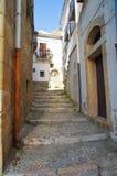 alleyway Bovino La Puglia L'Italia Immagine Stock Libera da Diritti