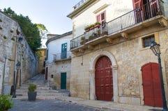 alleyway Bovino La Puglia L'Italia Fotografia Stock