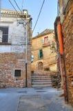 alleyway Bovino La Puglia L'Italia Fotografie Stock Libere da Diritti