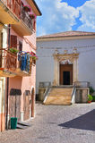 alleyway Brienza La Basilicata L'Italia Fotografie Stock