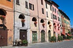 Alleyway. Brisighella. L'Emilia Romagna. L'Italia. Immagini Stock Libere da Diritti