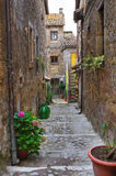 Alleyway. Calcata. Lazio. Italy. stock images