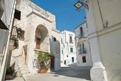 alleyway Castellaneta Puglia Italië stock foto