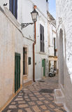 Alleyway. Ceglie Messapica. Puglia. Italy. Royalty Free Stock Images
