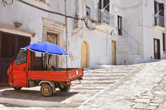 Alleyway. Ceglie Messapica. Puglia. Italy. Royalty Free Stock Photo
