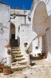 Alleyway. Ceglie Messapica. Puglia. Italy. Stock Photo