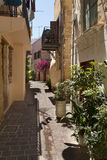 Alleyway in Chania, Crete Royalty Free Stock Image