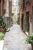 Alleyway in cinque terre italy royalty free stock photo