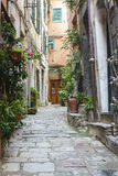 Alleyway in cinque terre italy Royalty Free Stock Images