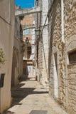 alleyway Cisternino La Puglia L'Italia Immagini Stock Libere da Diritti