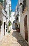 Alleyway. Cisternino. Puglia. Italy. Royalty Free Stock Photos
