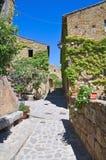 Alleyway. Civita di Bagnoregio. Il Lazio. L'Italia. Fotografia Stock Libera da Diritti