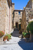 Alleyway. Civita di Bagnoregio. Il Lazio. L'Italia. Fotografie Stock Libere da Diritti