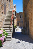 Alleyway. Civita di Bagnoregio. Lazio. Italy. Royalty Free Stock Photography