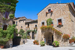 Alleyway. Civita di Bagnoregio. Lazio. Italy. Stock Images