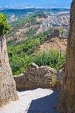 Alleyway. Civita di Bagnoregio. Lazio. Italy. Royalty Free Stock Images
