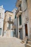 alleyway Conversano La Puglia L'Italia Fotografia Stock Libera da Diritti