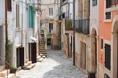 alleyway Conversano La Puglia L'Italia Immagine Stock Libera da Diritti