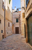 Alleyway. Conversano. Puglia. Italy. Royalty Free Stock Photo