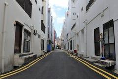 Alleyway del centro urbano Fotografie Stock
