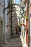 Alleyway. Delle Fonti di Acquaviva. La Puglia. L'Italia. Fotografie Stock