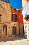 alleyway Delle Fonti di Acquaviva La Puglia L'Italia Fotografie Stock