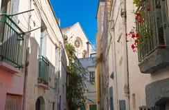 alleyway Delle Fonti di Acquaviva La Puglia L'Italia Immagini Stock Libere da Diritti