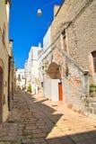 alleyway Di Bari di Sammichele La Puglia L'Italia Fotografie Stock Libere da Diritti