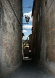 Alleyway di Siena Fotografie Stock